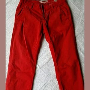 NoLab Red Skinny Low-rise Pants